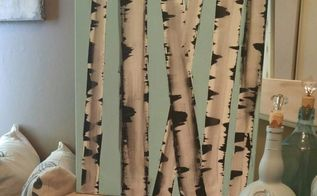 diy fun challenge birch log painting, gardening