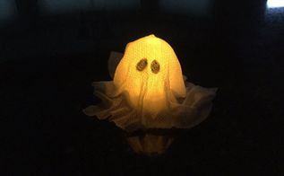 easy halloween light up ghost craft 2 options crafts decoupage halloween decorations - Light Up Halloween Decorations