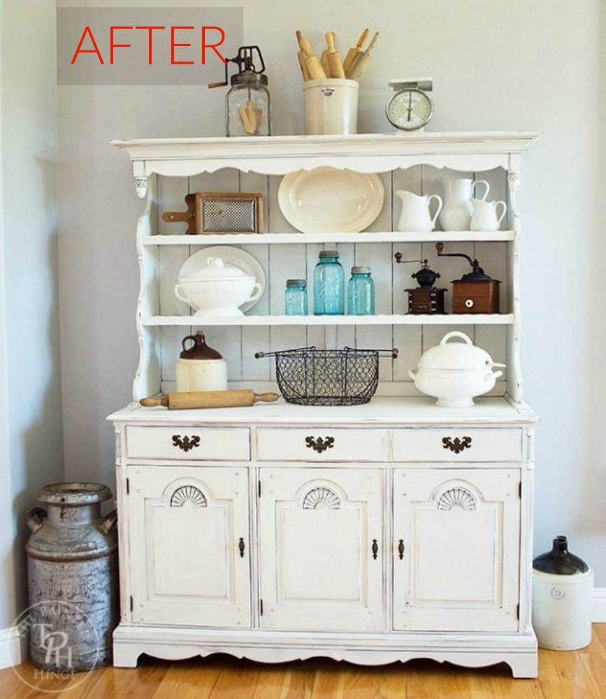 8 hutch makeovers we can 39 t stop looking at hometalk for Painted dining room hutch ideas