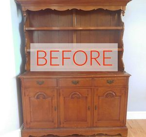 s 8 hutch makeovers we can t stop looking at, painted furniture