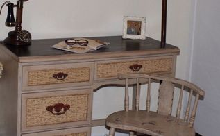 writers desk makeover, painted furniture