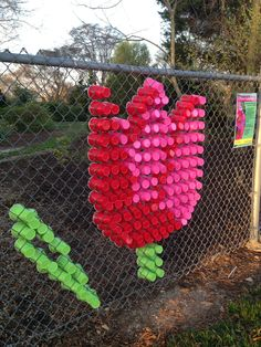 Decorating My Chain Link Fence Hometalk