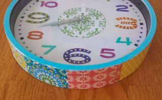 boho wall clock diy, decoupage, home decor, how to, repurposing upcycling