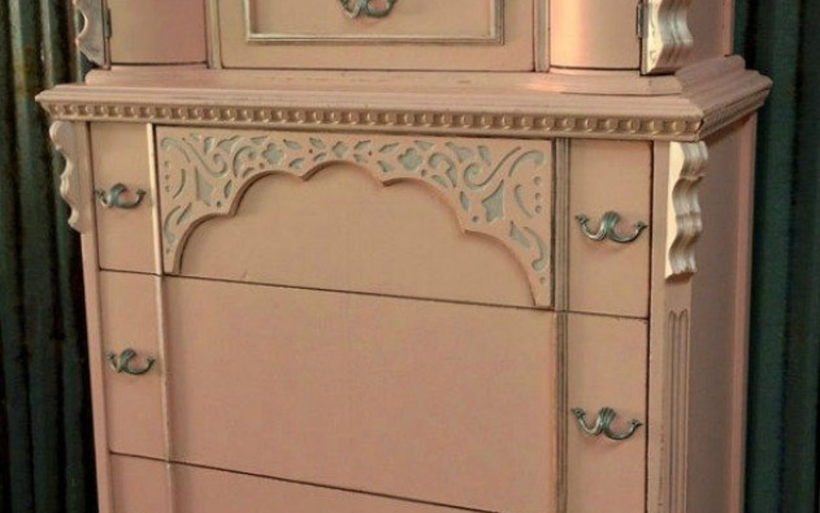 s i hate pink but these makeovers changed my mind , This pink chiffon dresser