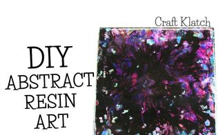 abstract resin art how to diy project, crafts, how to, wall decor