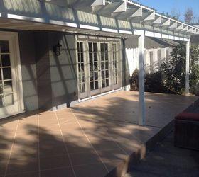 Patio Floor Makeover Painted Patio Floor To Look Like Tile , Flooring,  Outdoor Living, ...