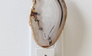 diy agate slice night light, crafts