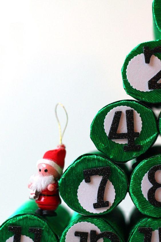 Christmas Tree Decorations Using Paper : Diy advent christmas tree using paper rolls hometalk