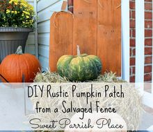diy rustic pumpkin patch, crafts, fences, how to