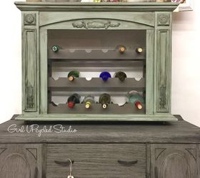 Furniture Upcycle Fireplace is UPcycled Into an Aged Wine Rack ...