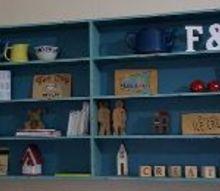giving a dark bookshelf a brighter look, shelving ideas, storage ideas