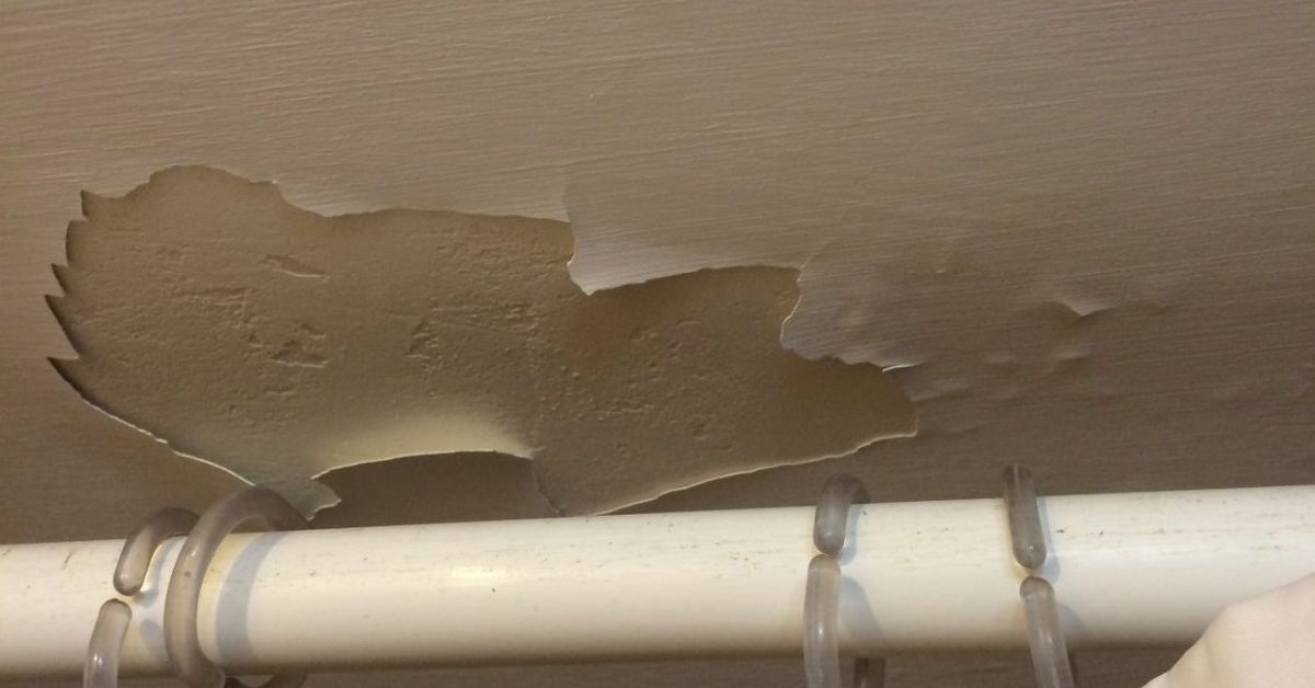Water Damage On Bathroom Ceiling Hometalk