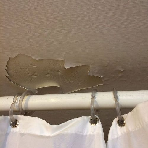 water damage on bathroom ceiling | hometalk