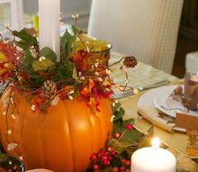 rustic and elegant fall tablescape, concrete masonry, crafts, fireplaces mantels, home decor, outdoor living, reupholster, wall decor, woodworking projects, wreaths