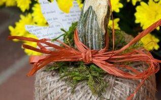 diy jute twine pumpkin, crafts, gardening, home decor, seasonal holiday decor