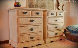 moroccan nightstands, painted furniture