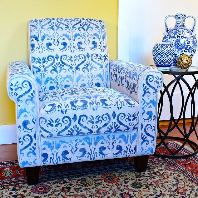No sew upholstered chair makeover hometalk for Home decor 90027