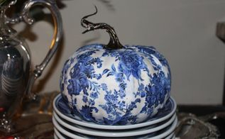 designing an elegant faux pumpkin, crafts, decoupage, repurposing upcycling, reupholster