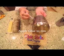 christmas votive using dixie belle shine, crafts