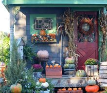 fall harvest around the potting shed, gardening, outdoor living