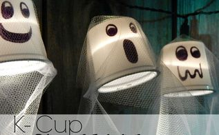 k cup ghost lights, cleaning tips, halloween decorations, home decor, seasonal holiday decor