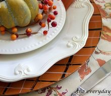 diy fall plaid chargers, crafts, dining room ideas, home decor, how to, seasonal holiday decor
