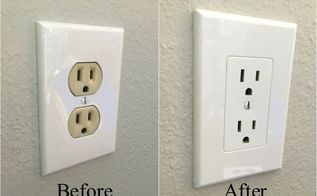 easy electrical outlet cover tip, home decor, how to, kitchen design, pallet