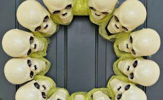 dollar store skull wreath, crafts, wreaths