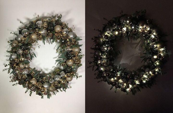 Ornament Wreath Christmas Decorations Crafts Home Decor Lighting Seasonal Holiday Decor