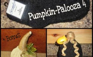 sock washcloth pumpkins, pallet