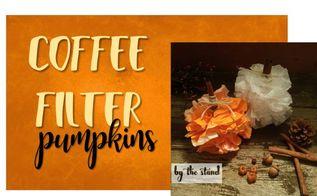 coffee filter pumpkins, painted furniture