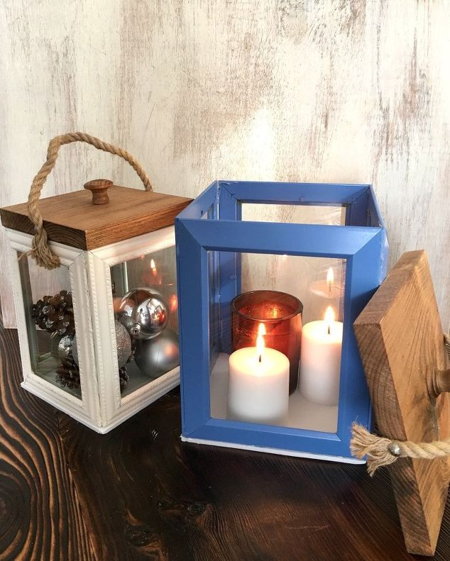 lanterns made from dollar tree frames outdoor living
