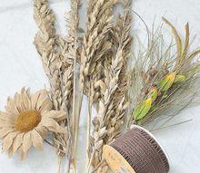 easy burlap fall door swag, crafts, doors, seasonal holiday decor, wreaths