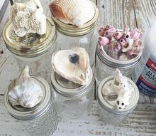 how to transform mason jars into seaglass , home decor, how to, mason jars, painting, storage ideas