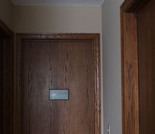 hallway makeover with white painted trim, foyer, home decor, home improvement, painted furniture, painting