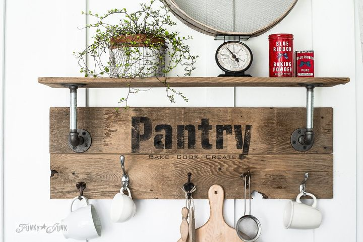 Make An Easy Pipe And Reclaimed Wood Shelf In Minutes Pantry Style Closet Crafts