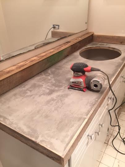 Guest Bathroom Redo With Shiplap Amp Concrete Counter Top