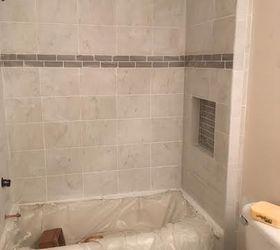 Guest Bathroom Redo With Shiplap Concrete Counter Top, Bathroom Ideas,  Concrete Masonry, Countertops