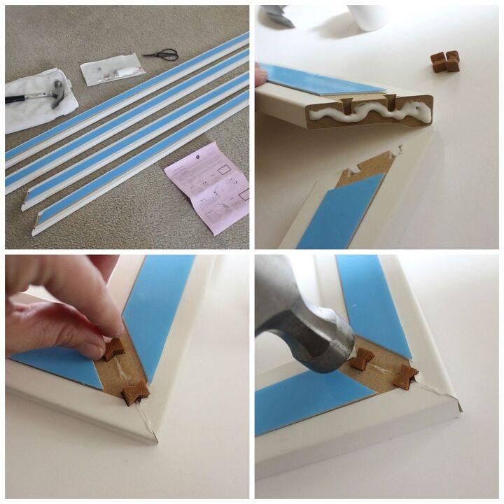 Diy mirror frame kit simple bathroom decor hometalk for Diy mirror frame decoration