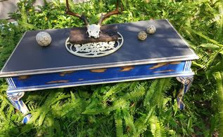 dragonfly blue table redos, painted furniture