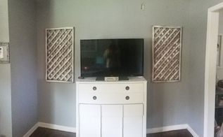 salvaged lattice panels turned fixerupper wall decor , home decor, repurposing upcycling, wall decor