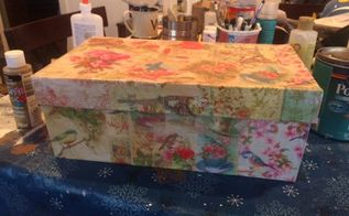 shoe box storage, decoupage, storage ideas