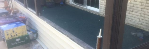 q screen in back porch keeping snow out using corrugated plastic, home maintenance repairs, porches