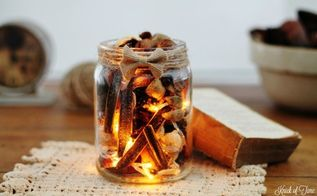 how to create a twinkling potpourri light, home decor, how to, repurposing upcycling, seasonal holiday decor