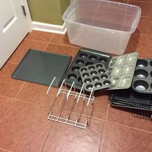 organizing keeping your cookie sheets and muffin pans neat, organizing, let s get organized