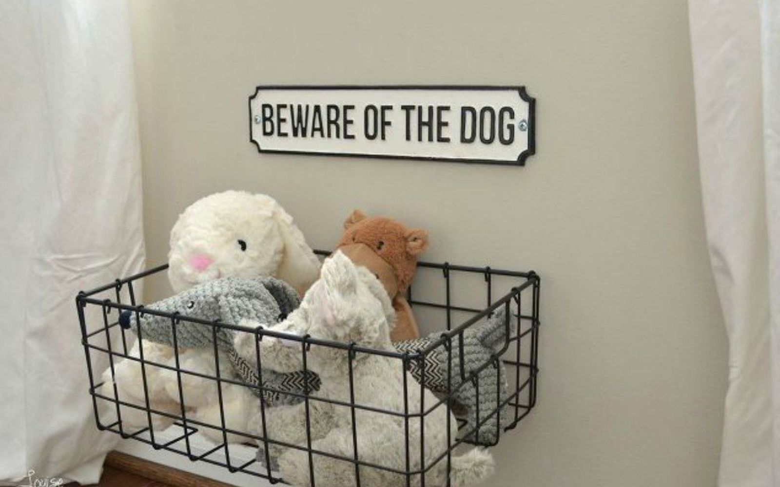 s 11 amazing toy storage ideas from highly organized moms, organizing, storage ideas, Store stuffed animals in a cute crate basket