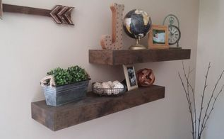 refined rustic floating shelves, shelving ideas