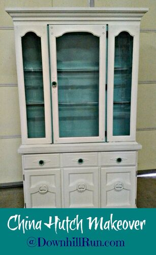 Old Wood China Hutch How Can I Update It Interestingly