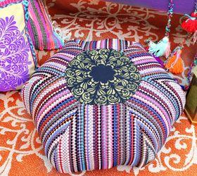 rag rug floor pouf diy flooring living room ideas outdoor living reupholster