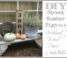 diy street number sign, crafts, woodworking projects